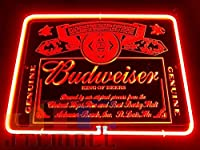 Budweiser バドワイザー KING OF BEER 特大 3D ネオン看板 インテリア コレクション ネオンサイン 広告 店舗用 NEON SIGN アメリカン雑貨