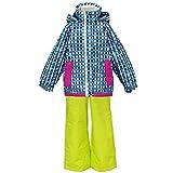 アスナロ(スキーウェア) PERSON'S(パーソンズ)スキーウェア 女の子 キッズ サイズ調整 上下セット100 ブルー