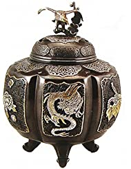 『六面吉祥地紋香炉』銅製