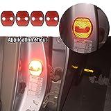 【Maidao】適合多数 日産 Nissan ニッサン 汎用 ドア ロック ストライカー カバー Cタイプ+赤 高輝度 反射テープ4枚 T32 エクストレイル E51 エルグランド C26セレナ ジューク等