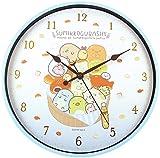 ティーズファクトリー 掛け時計 パンきょうしつ Φ30×D4cm すみっコぐらし インデックスウォールクロック SG-5520221PK