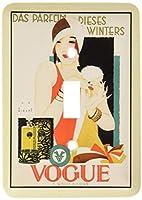 3drose LLC lsp _ 47860_ 1Framed Art Deco French Ad Single切り替えスイッチ