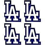 Set of 4 LA Dodgers Team Logo Stickers Four Individual Official Major League Baseball Helmet Emblems MLB Los Angeles