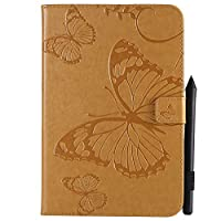 iPad Mini 1 2 3 4 Case, MrStar iPad Mini 1 2 3 4 Leather Wallet Case Book Design with Flip Cover and Stand [Credit Card Slot] Cover Case for iPad Mini 1 2 3 4 - Yellow