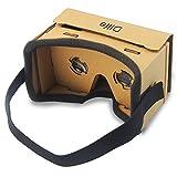 Dlife DIY Googleの段ボール3D・VRバーチャルリアリティのメガネiPhone/Samsung/HTCの携帯電話の3.5〜6inch画面用(イエロー)