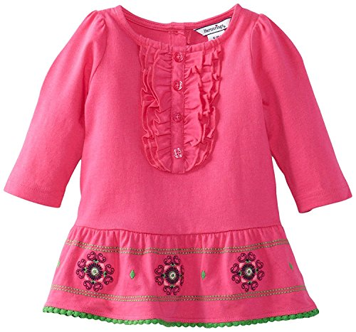 Hartstrings Baby Girls' Long Sleeve Jersey Tunic Berry Pink 12 Months [並行輸入品]
