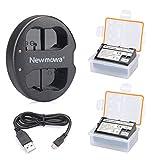 Newmowa EN-EL15 互換バッテリー 2個 + 充電器 セットNikon EN-EL15 and Nikon 1 V1, D600, D610, D750, D800, D800E, D810, D850, D7000, D7100,D7200