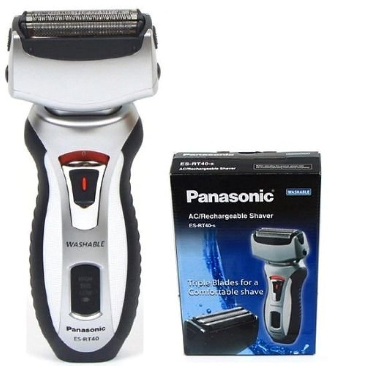 汚れた黒夢中PANASONIC ES-RT40 充電式マンシェーバー3ブレード ESRT40 100-240V [並行輸入品]