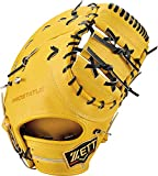 ZETT(ゼット) 硬式野球 プロステイタス ファーストミット トゥルーイエロー×ブラック(5419) 右投げ用 日本製 BPROFM130