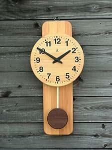 「キコリの時計」 木の振子時計 【丸型時計】