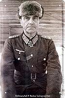 フィールド元帥F.パウルスドイツ帝国126錫レトロメタルウォールプラーク20×30