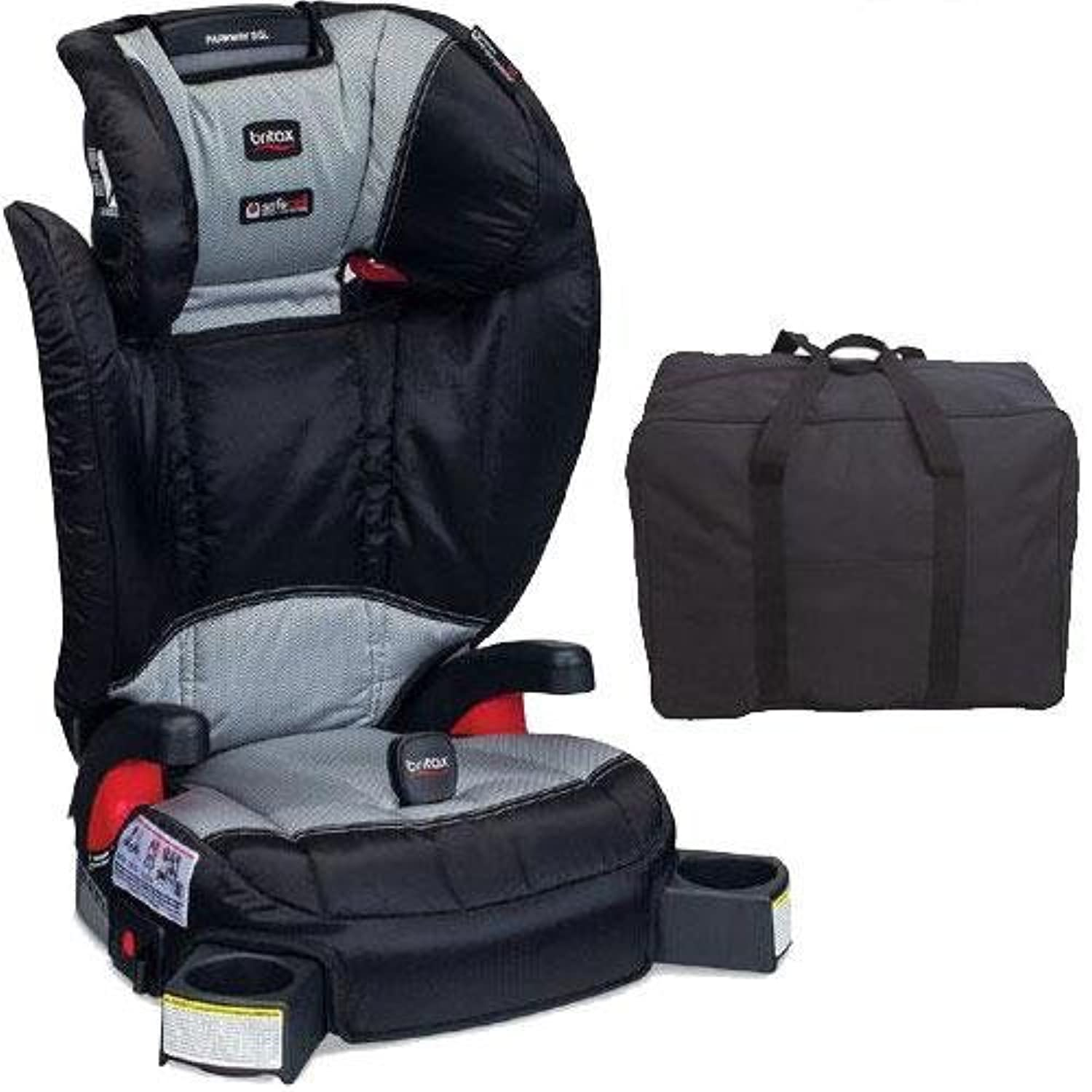 Britax - Parkway SGL G1 1 Belt-Positioning Booster Seat with Travel Bag - Phantom by Britax USA