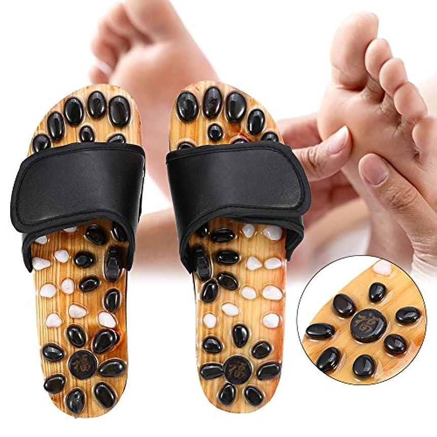 差別化するためにフィット足マッサージスリッパ、リフレクソロジー足底筋膜炎ヘルスケアマッサージシューズ男性と女性のための足の痛みを軽減する (2# 38)
