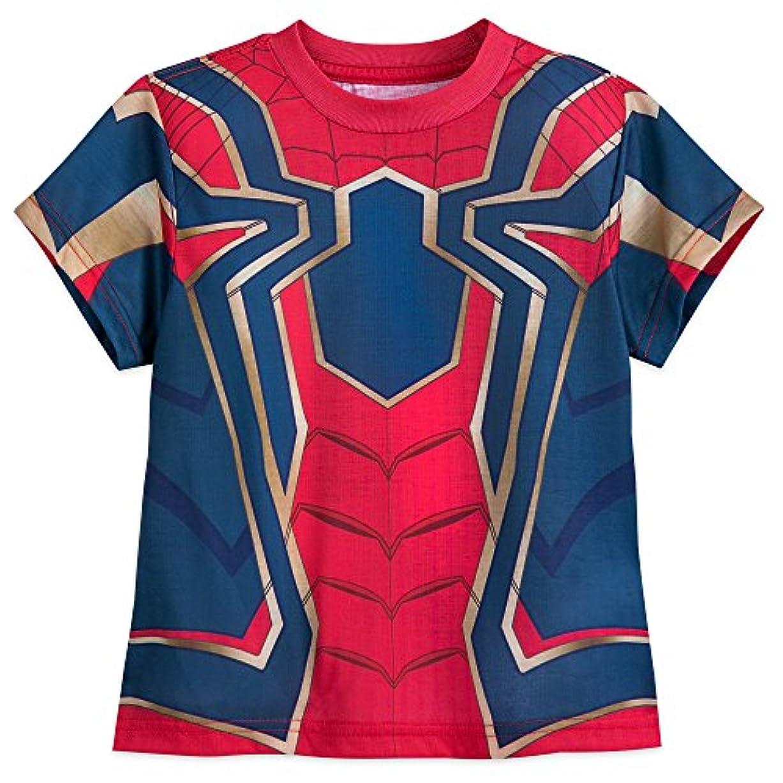 大学院アンカー寛容ディズニー (Disney) スパイダーマン インフィニティ?ウォー なりきり Tシャツ コスチューム (US7/8) [並行輸入品]