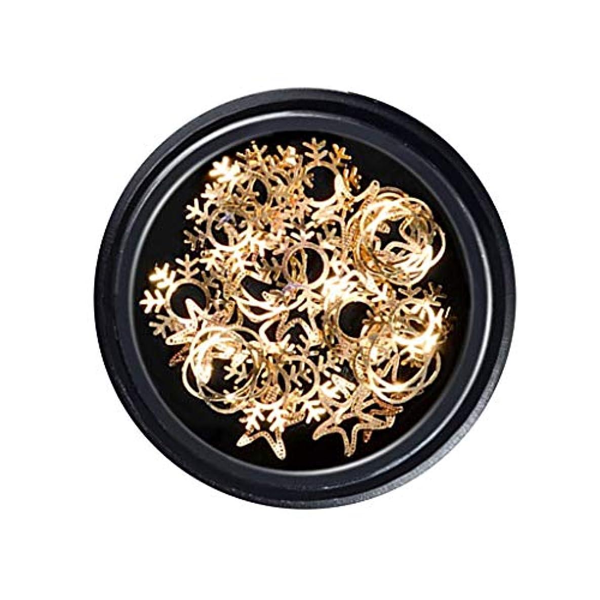 パシフィック透ける対立DYNWAVE ネイルアートスノーフレーク装飾ステッカー ネイル用品 スパンコール