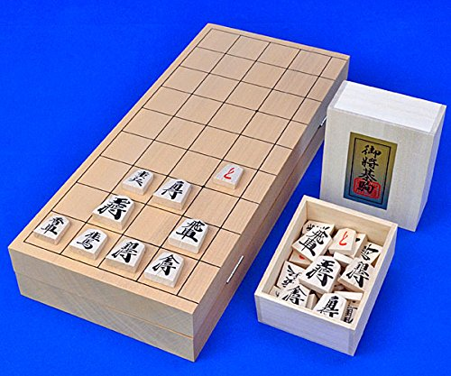 [해외]간편한 木駒와 울트라 두께의 골절 장기판 세트! 장기 세트 새로운 계림 10 ?折 장기판 세트 (나무 장기 체스 화 재 우량 눌러)/Shogi set ShinGai 10th Fold Shogi board set (wooden shogi bridge birch excellence push)