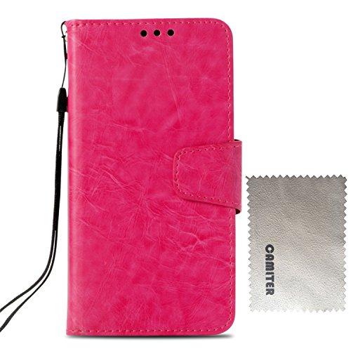 Samsung Galaxy S4 ケース 手帳型 Galaxy S4 カバー Camiter 高品質 PU合皮レザー カード収納 スタンド機能 マグネット式 財布型 フリップカバー 耐衝撃 高級感 おしゃれ (ローズ)
