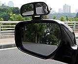 外装補助ミラー/バックミラー カー補助ミラー角度調整可能補助 サブミラー/広視野便利 グッズ/角度調整可能補助ミラー/簡単取り付けミラー死角地帯の解消カーミラー/広角レンズ/広視野/サイドミラーブラック 2個セット