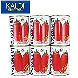<6缶セット> ラ・プレッツィオーザ ホールトマト缶 400g×6缶 -