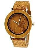 """Henny Kleinドイツハンドメイド木製Designer Maple Wood腕時計Ladies Eco Naturalレディースブレスレットと鹿のコルクコルクダイヤル"""" Limited Edition """" Including Watchボックス (¥ 12,754)"""