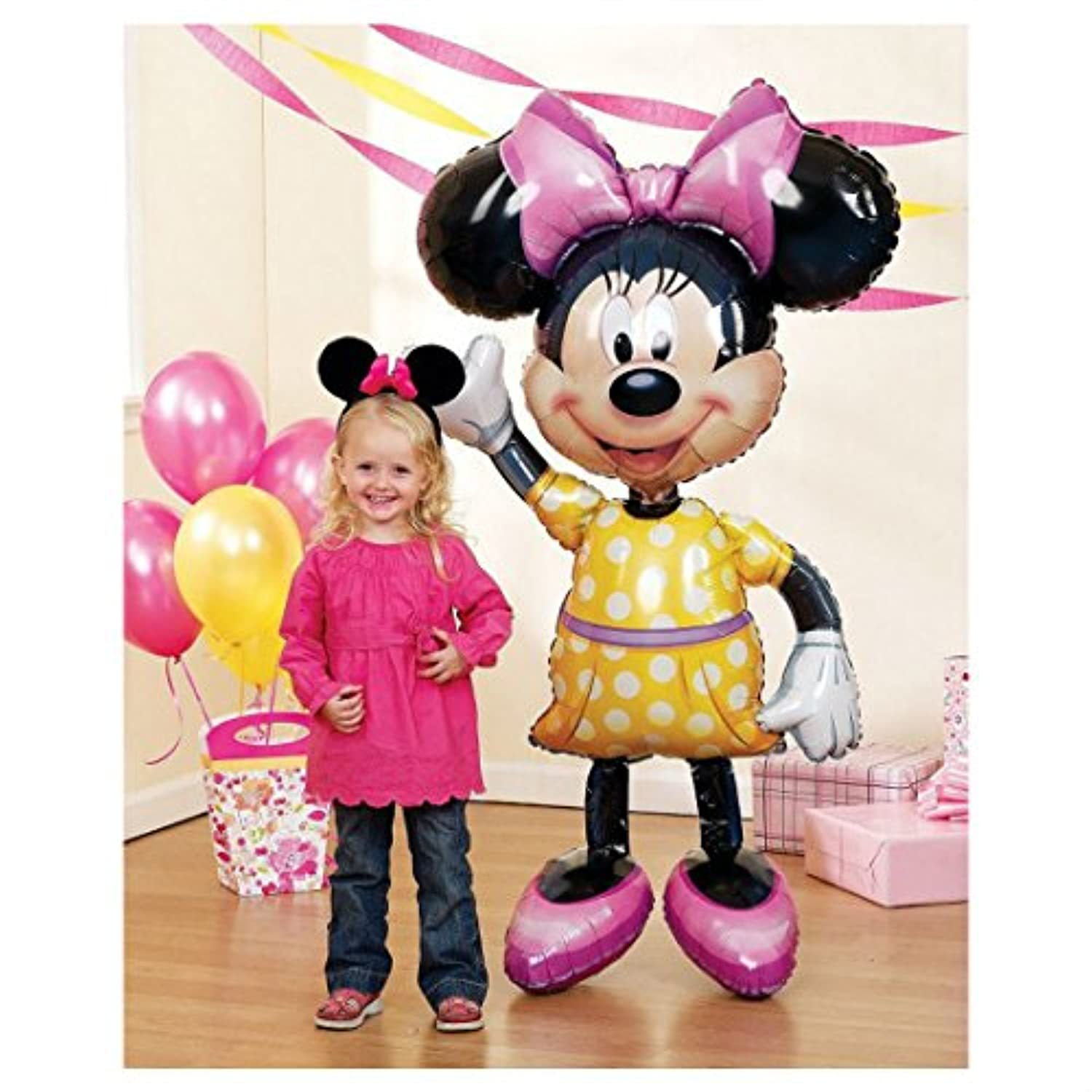 Jumbo Minnie Mouse Airwalker 54 Birthday Foil Balloon Decoration Party Supplies by Unknown