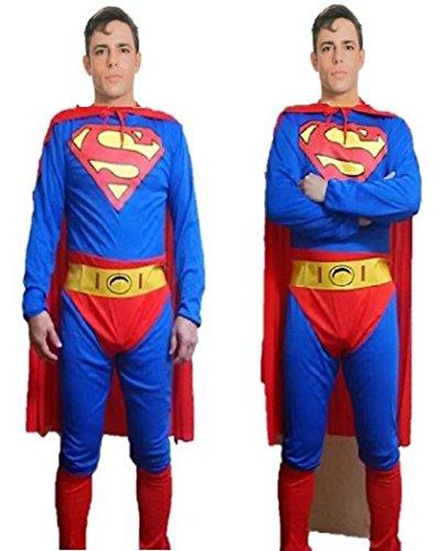 BAPAK ハロウィン 大人 男 スーパーマン 全身タイツ コスプレ コスチューム