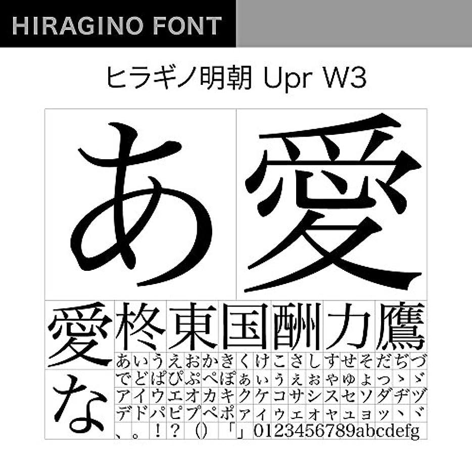 ボウリングエンジンバーガーOpenType ヒラギノ明朝 Upr W3 [ダウンロード]