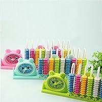幼児期のゲーム 1Pc 9ラインカウンタークロック2 in 1学習ツールPlastic Abacus(グリーン)