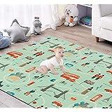 Baby Play mat, Folding Portable Indoor Ourdoor Non Toxic PE Foam Waterproof Educational, Including Bag