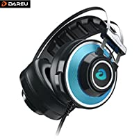DAREU EH725 ゲーミングヘッドセット 7.1chサラウンド BLUE/RED 海外版日本未発売モデル (BLUE)