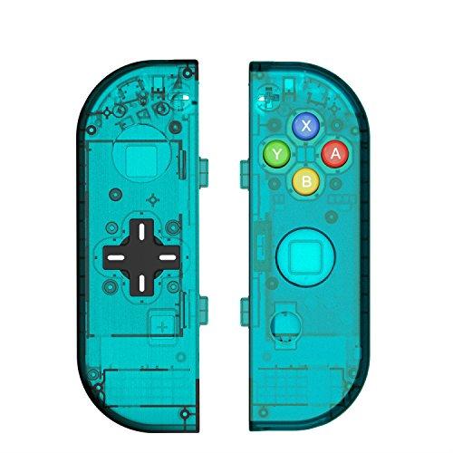 Myriann 任天堂 Nintendo Switch ニンテンドー カラー置換ケース 代わりケース 外殻 ついに登場! (ブルー)