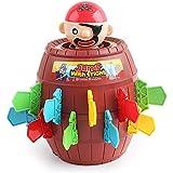 Tongtu Outdoor 海賊樽 幸運なパーティーゲーム剣海賊樽危機 クリエイティブおもちゃ海賊バレルゲーム面白い大人用子供用海賊樽ずるいおもちゃ知的ゲーム素晴