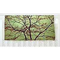 KESS InHouse Sylvia Coomes Modern Fall Tree Green Brown Fleece Baby Blanket 40 x 30 [並行輸入品]