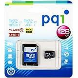 PQI micorSDXCカード メーカー永久保証付 高速UHS-I対応 Class10 大容量128GB SDカードアダプタ付き MS10U11-128