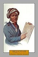 Sequoyah–Portrait of the Cherokee Alphabet Inventor 12 x 18 Art Print LANT-30668-12x18