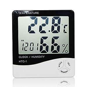 デジタル液晶クロック温度計温度計湿度計メーターアラーム