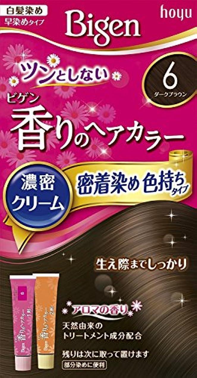 考古学的なロマンス言い訳ホーユー ビゲン香りのヘアカラークリーム6 (ダークブラウン) ×6個