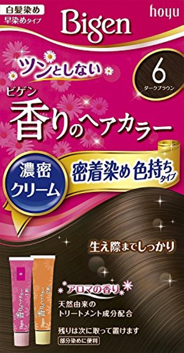 丈夫おしゃれな航空会社ホーユー ビゲン香りのヘアカラークリーム6 (ダークブラウン) ×3個
