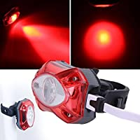 Beautyrain 1個 USB充電自転車灯台自転車ライトMTB安全警告灯 赤い光