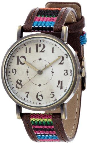 腕時計  DEEP(ディープ) アナログフランネルレザーウォッチ コッサ ブラック FDC037A レディース フィールドワーク