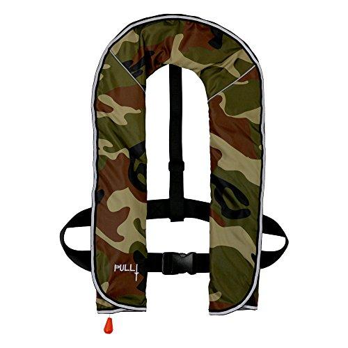 DABADA(ダバダ) ライフジャケット インフレータブル ベストタイプ 膨張式 救命胴衣 男女兼用 フリーサイズ (首かけ手動膨張式迷彩A)