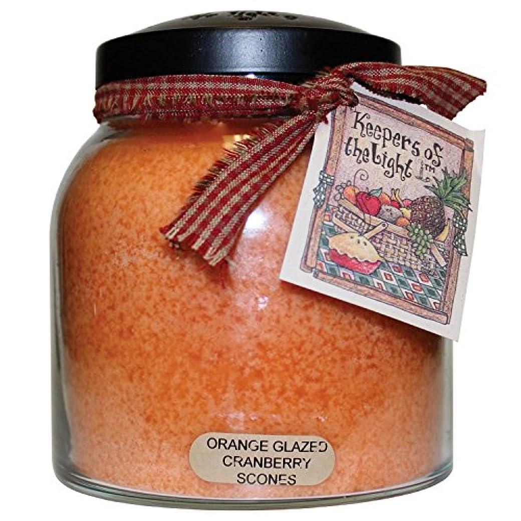 思想療法朝食を食べるA Cheerful Giver Scones Papa Jar Candle, 34-Ounce, Orange Glazed Cranberry [並行輸入品]