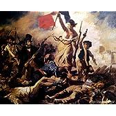 ドラクロワ 「民衆を導く自由の女神」 原画同縮尺近似(20号) delacroix-03-05