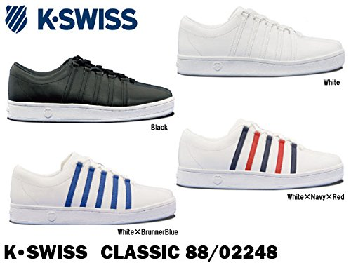 ケースイス スニーカー メンズ CLASSIC 88 KSW02248 8.5(26.5) White×BrunnerBlue