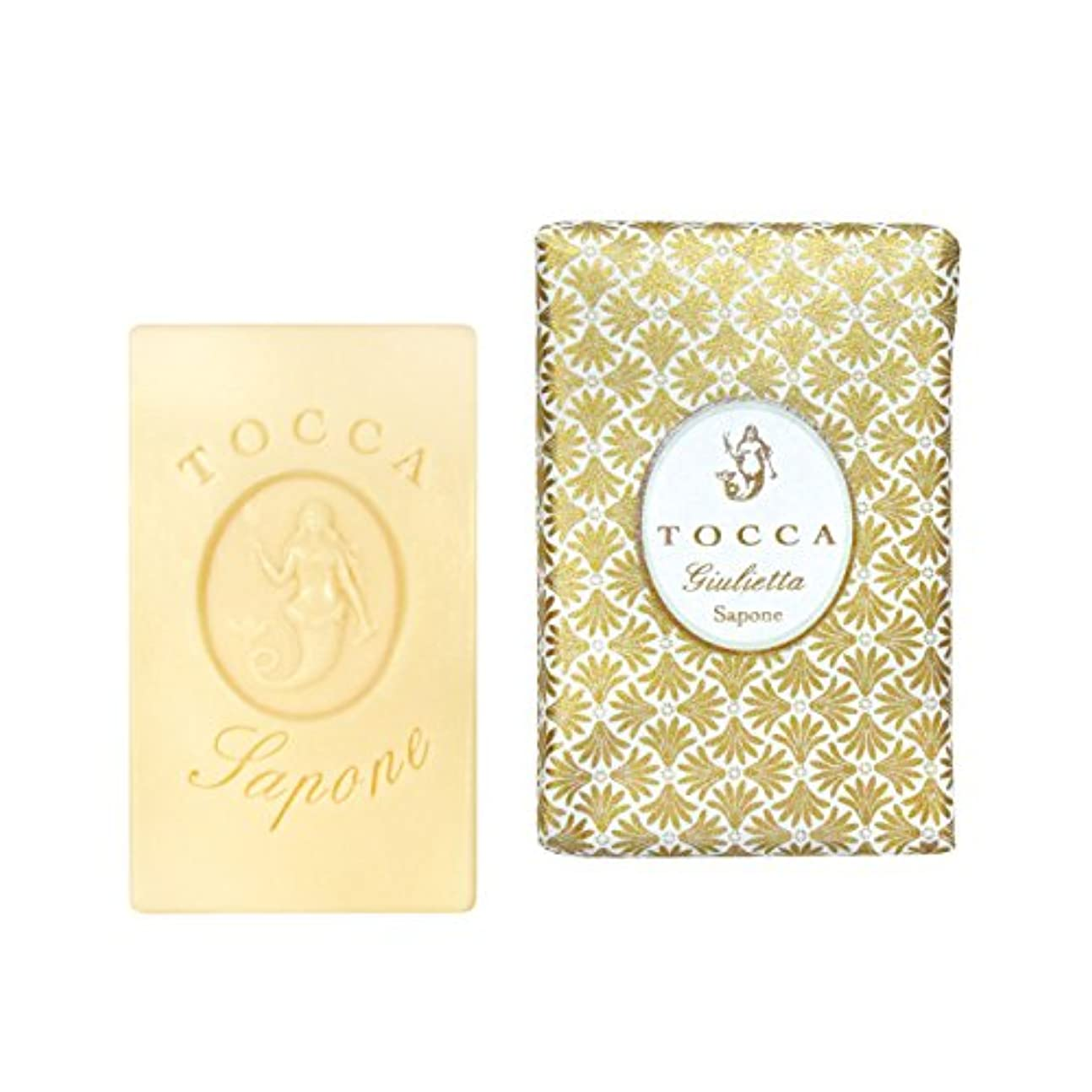 ヒゲ法廷気球トッカ(TOCCA) ソープバー ジュリエッタの香り 113g(化粧石けん ピンクチューリップとグリーンアップルの爽やかで甘い香り)