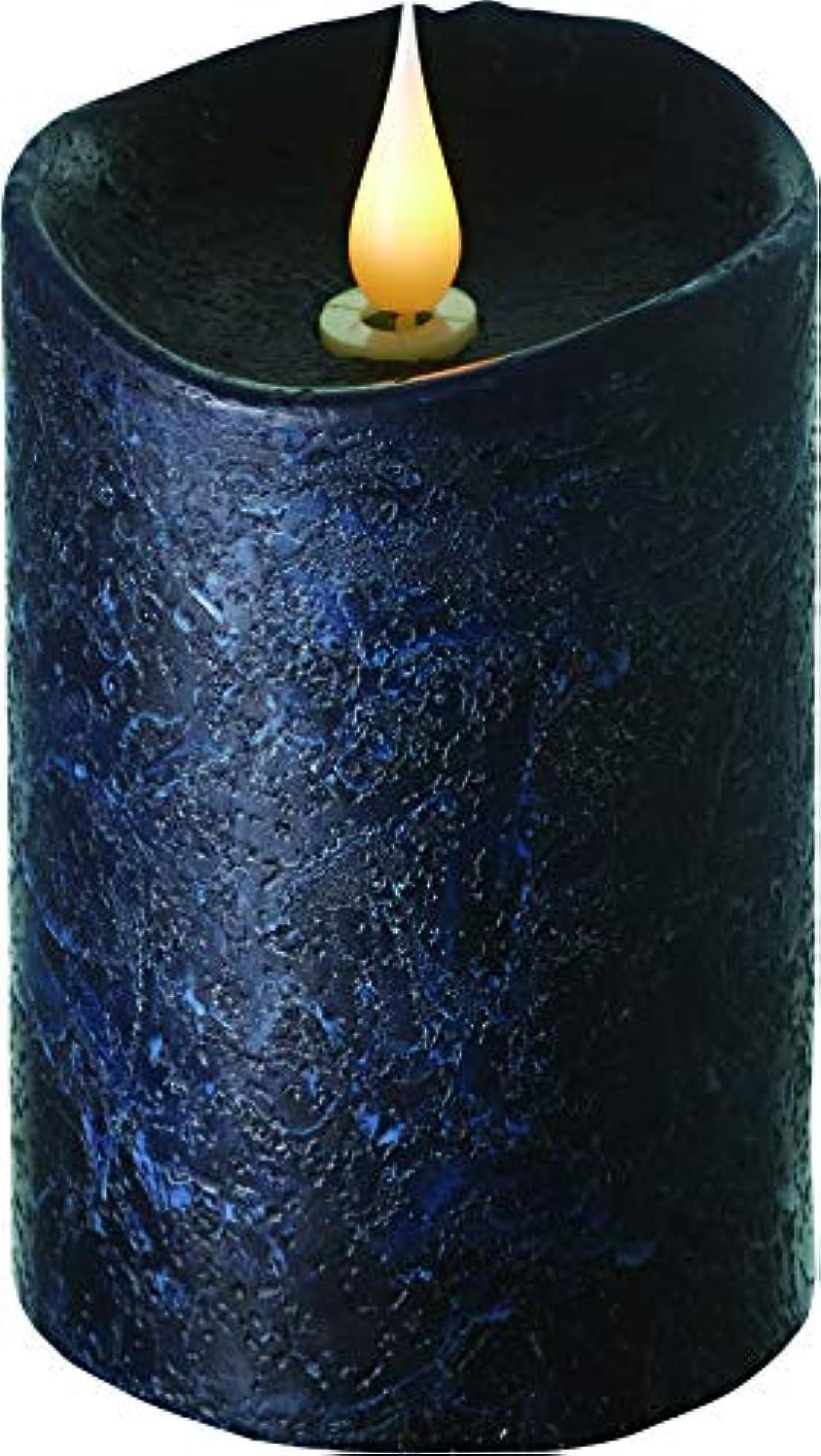 エンキンドル 3D LEDキャンドル ラスティクピラー 直径7.6cm×高さ13.5cm ブラック