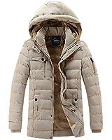 APTRO(アプトロ)ダウンコート メンズ 中綿 冬 分厚い 裏起毛 ダウンジャケット 1519カーキ 日本M(タグXL)