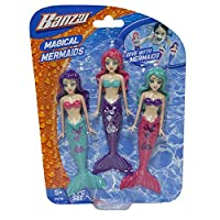 Fun Stuff Banzai Spring and Summer 3 Piece Magical Mermaid Dolls%カンマ% in Assorted Colors (2 Pack) [並行輸入品]