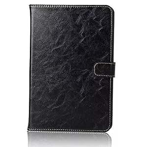 2015年iPad Mini4 ケース カバー手帳型 高級 2カード収納 高級レザースタンド機能アイパッド ミニ4スマートカバー高級PU レザーケースタッチペン+ファイル付き (ブラック)