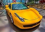 絵画風 壁紙ポスター (はがせるシール式) フェラーリ 458イタリア 2009年 イエロー キャラクロ F458-001A2 (A2版 594mm×420mm) 建築用壁紙+耐候性塗料 - 2,550 円